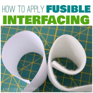 how to add fusible interfacing