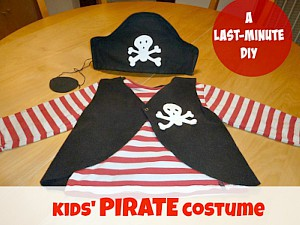 Diy pirate costume with a free pattern