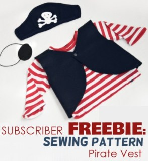diy pirate costume and a free sewing pattern