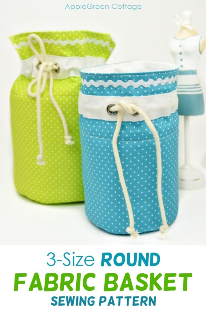 Sweetest Round Fabric Storage Bins