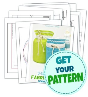 fabric basket pattern- sewing pattern
