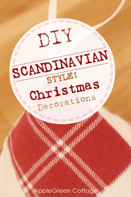Diy Christmas decorations in Scandinavian style