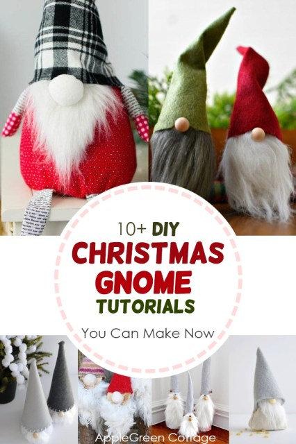 Christmas gnome diy tutorials - check out these 13 Scandinavian gnomes tutorials to make diy Scandinavian christmas decor. They are also called nisse or tomte in Nordic countries. So cute and easy to make!
