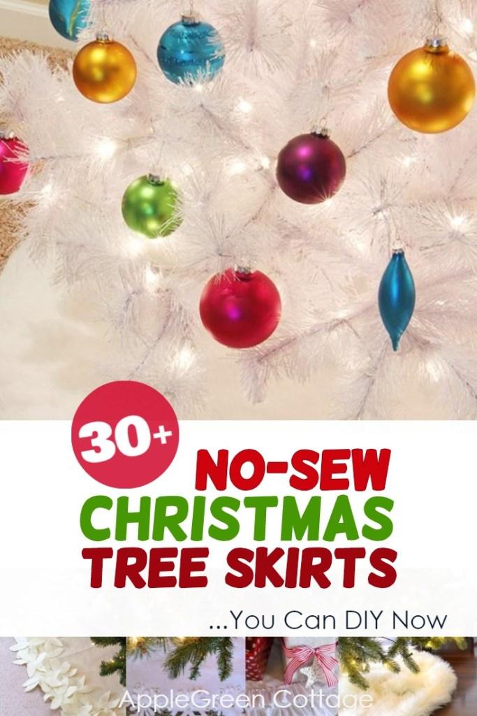 30+ No-Sew Diy Tree Skirts For Your Christmas Tree