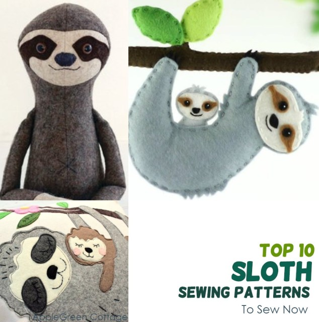 sloth sewing patterns