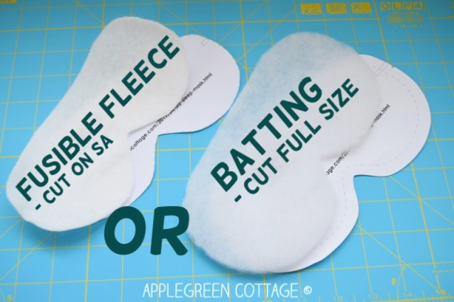 sewing tip for diy sleep mask
