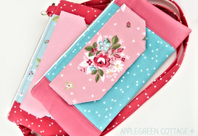 wristlet wallet with flap