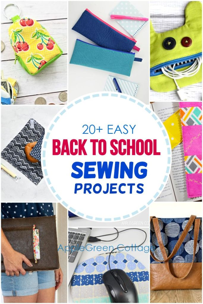 20+ Fun Back To School Sewing Projects