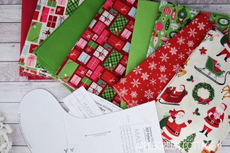 fabric for christmas stocking
