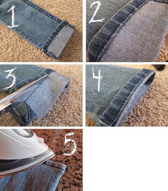 jeans hemming hack