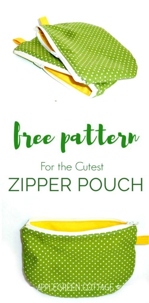 Free PDF Printable Template – My Polka-Dot Zipper Pouch