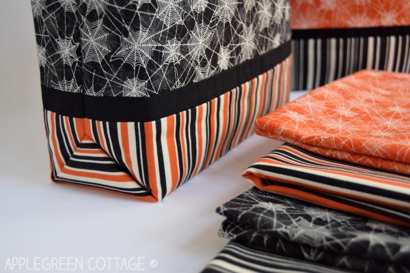 black and orange diy trick or treat bag