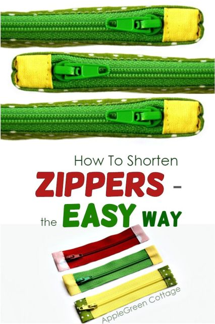 how to shorten a zipper