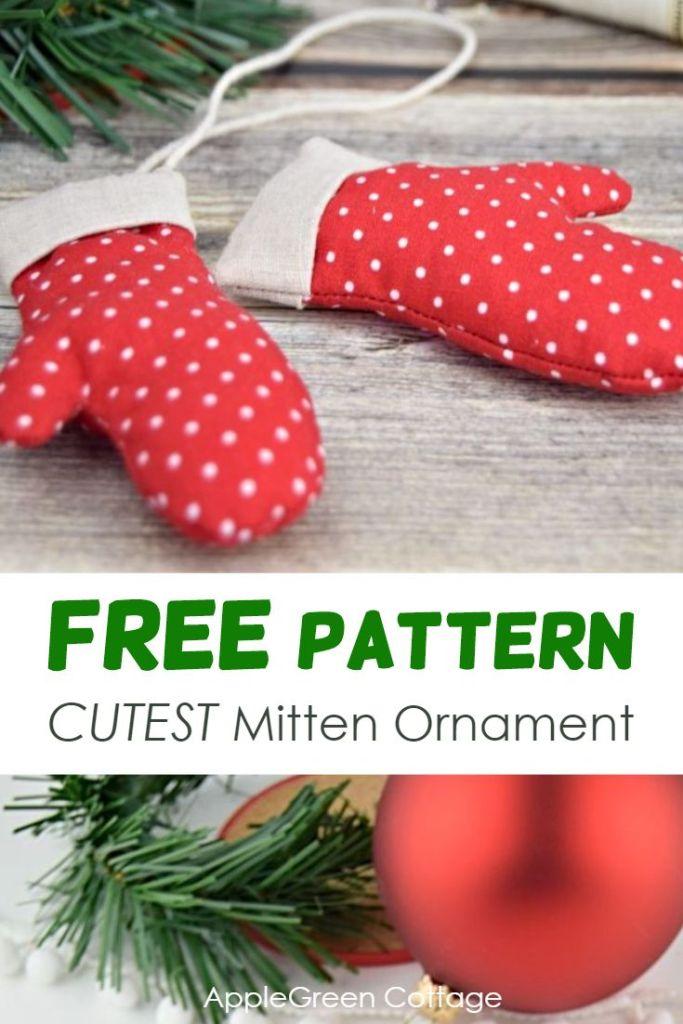 Mitten Ornament – Free Christmas Mitten Template!