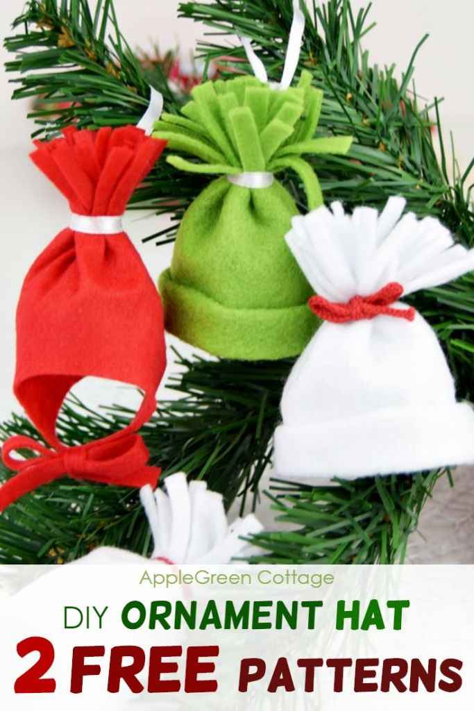 Ornament Hat – 2 Free Patterns: Mini DIY Beanie  And a Baby Hat Ornament