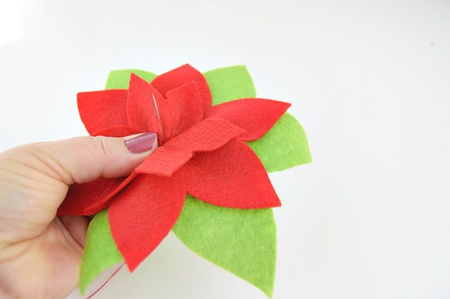 poinsettia ornament tutorial