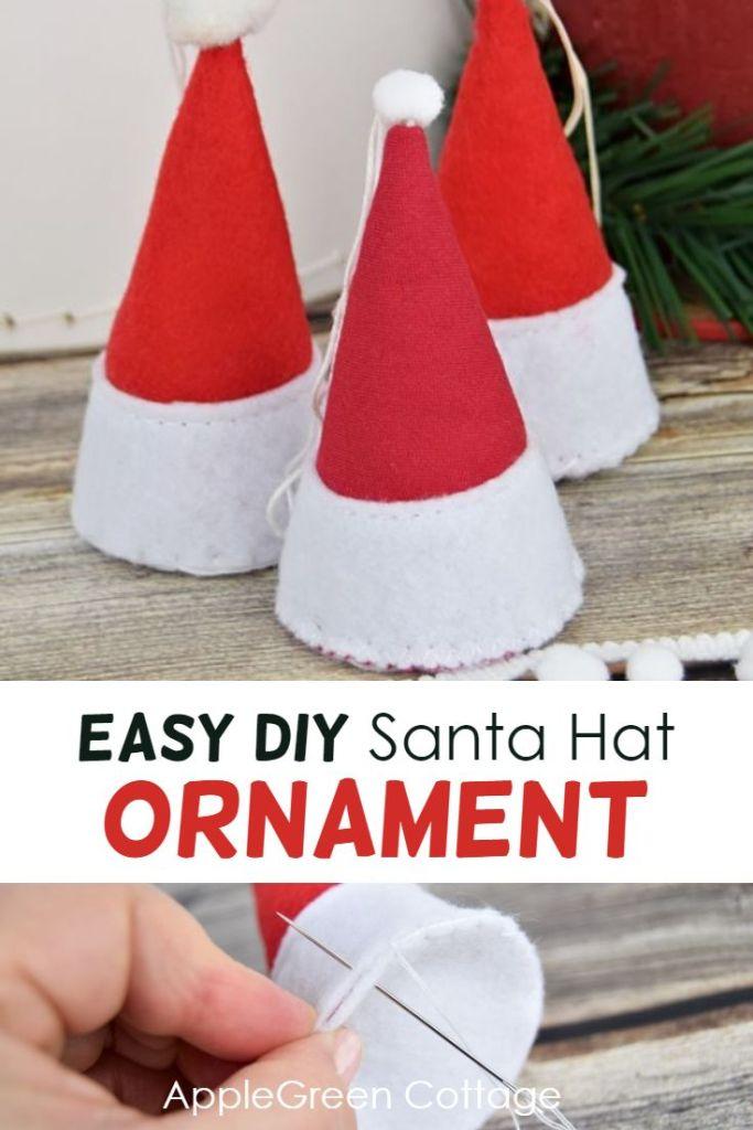 Santa Hat Ornament – Free Pattern