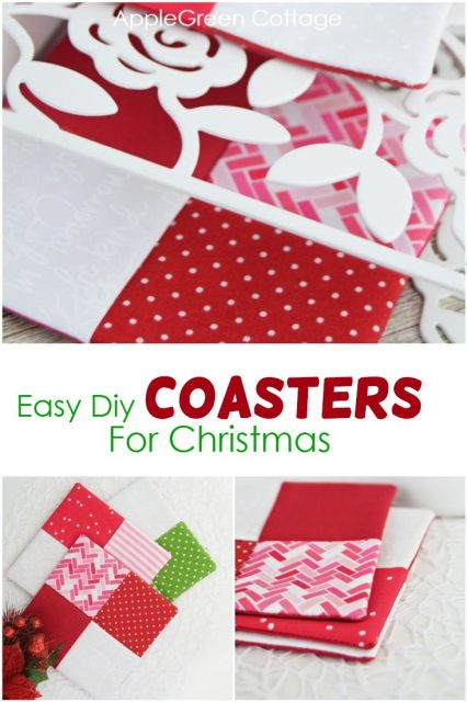 diy Christmas coasters