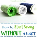 How To Start Sewing Without A Knot