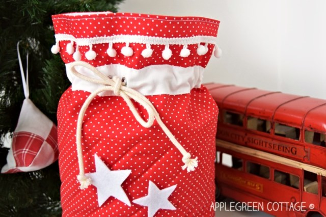 Santa bag or Santa sack to sew