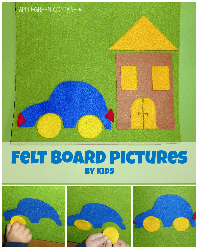 DIY Felt Board Pictures – Game Time!