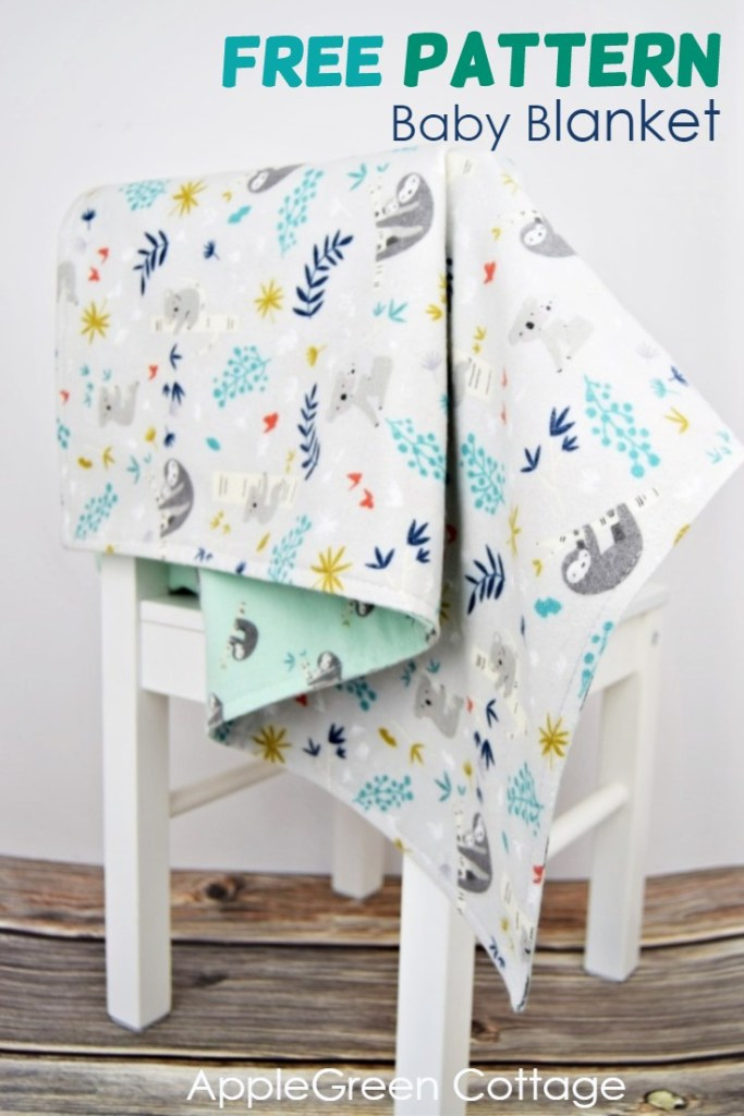 diy baby blanket from gray flannel
