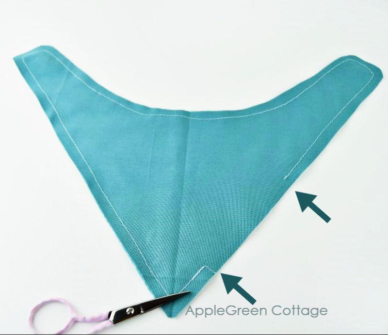sewing bandana bib for baby