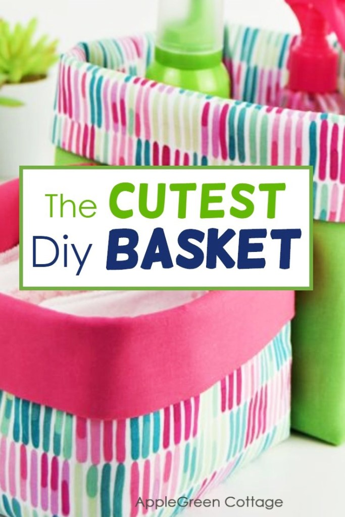 how to sew a basket