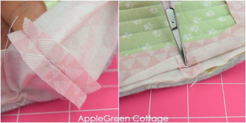 mitered corners on binding
