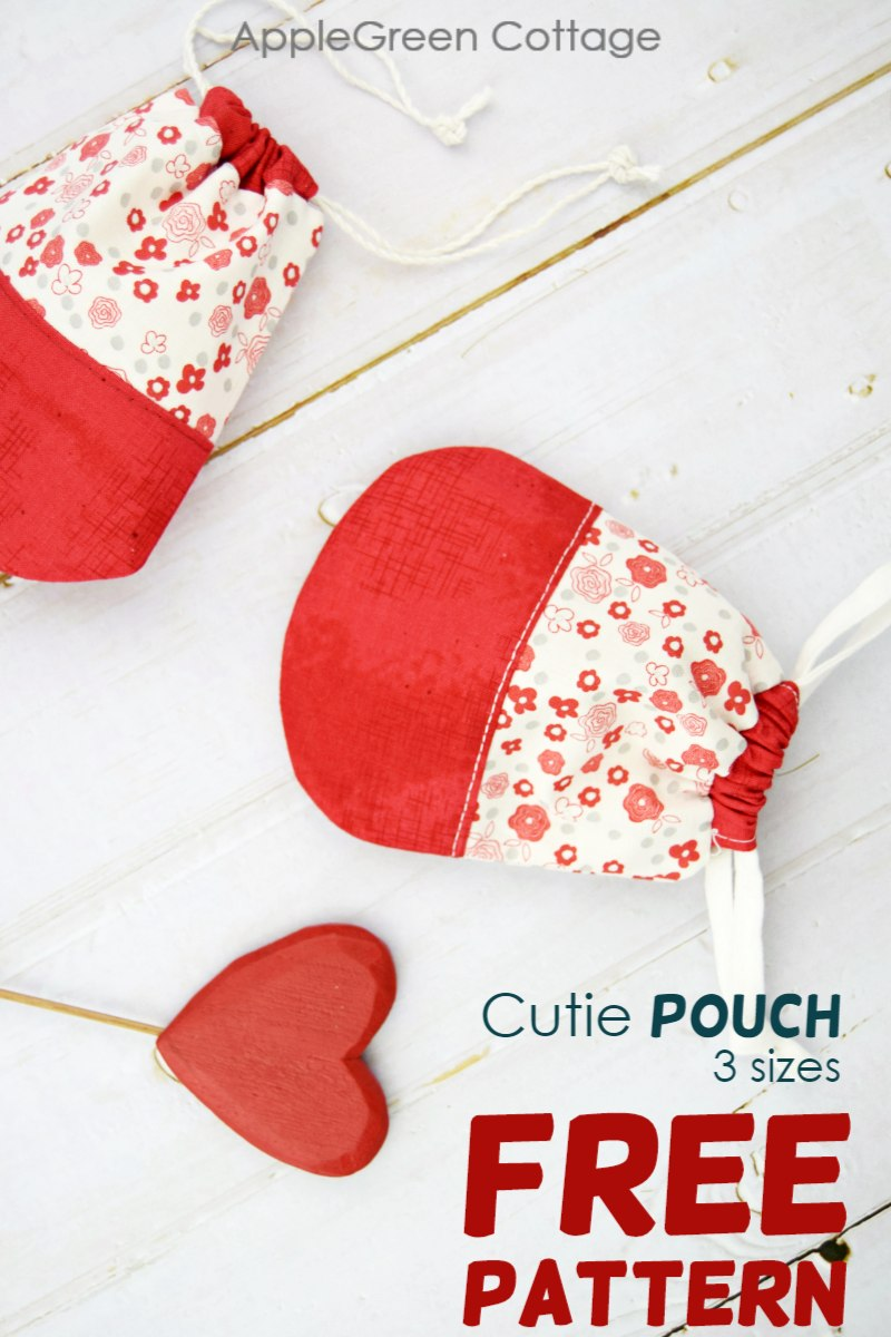 Valentines Gift Pouch in 3 Sizes - Free Sewing Pattern