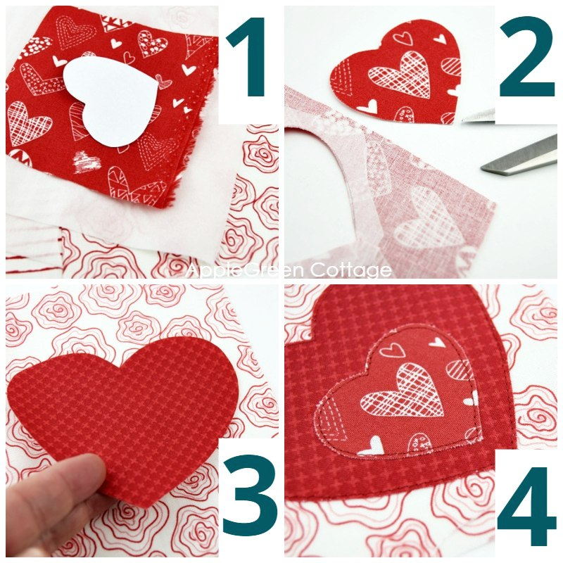 heart applique sewing