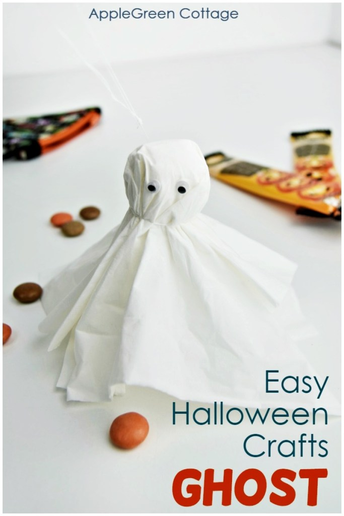 Tissue Paper Ghost – Easy Halloween Crafts