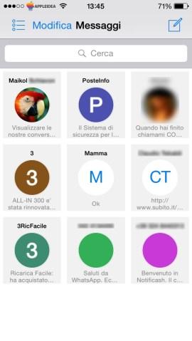 Grid Messages, visualizzare a griglia le nostre conversazioni nell'app Messaggi