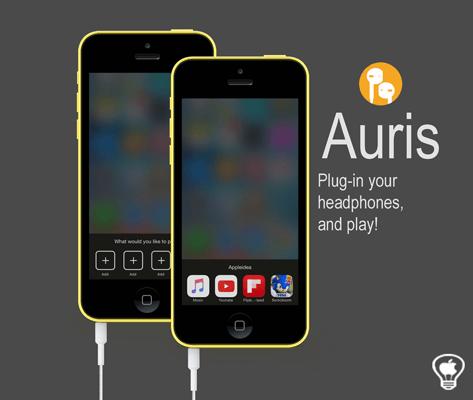 Auris, un rapido accesso alle applicazioni quando colleghiamo le cuffie
