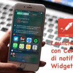 Launcher con Centro di notifica Widget, migliorare il Centro Notifiche di iOS per avere un rapido accesso a contatti e app