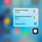 QuickAlarm, gestisci le svegli e gli allarmi direttamente con il menu 3D Touch