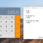Come visualizzare su Mac una lista di tutte le operazioni matematiche digitate nell'app Calcolatrice