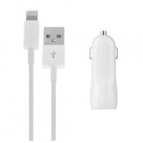 2v1 nabíjecí sada pro Apple zařízení - autonabíječka se dvěma USB porty (3.1A) a Lightning kabel