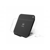 MCDODO bezdrátová čtvercová nabíječka / stojánek pro Apple iPhone - černá