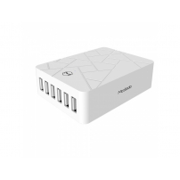 MCDODO nabíječka se šesti USB porty pro Apple iPhone / iPad / iPod - bílá