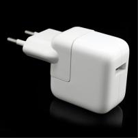 Nabíječka / adaptér 12W s EU zástrčkou a USB konektorem pro Apple iPhone / iPad / iPod - bílá