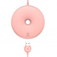 BASEUS bezdrátová QI nabíječka ve stylu donutu pro Apple iPhone - růžová