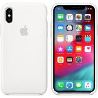 Originální Apple silikonový kryt pro iPhone XS - bílý