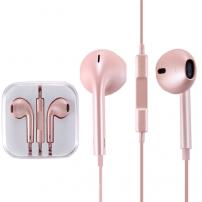 Sluchátka s mikrofonem a dálkovým ovládáním pro Apple zařízení - růžovozlatá