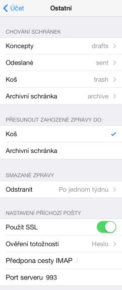 jak nastavit seznam email na iphone