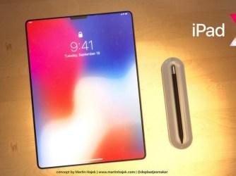 Bezrámečkový iPad Pro po vzoru iPhone X