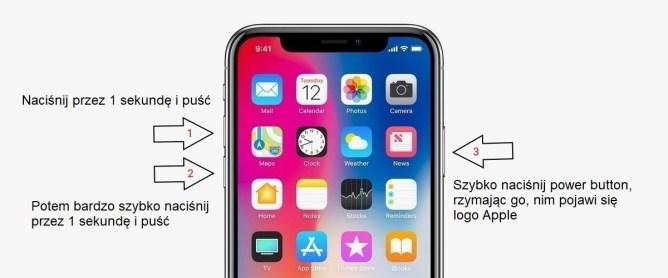 """Jak zresetować iPhone'a X """"twardy reset"""""""