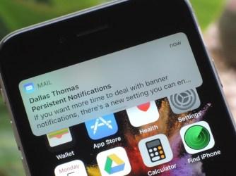 Návod jak zapnout upozornění v aplikaci Mail na iPhonu