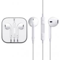 Căşti cu microfon şi telecomandă, pentru dispozitive Apple – albe