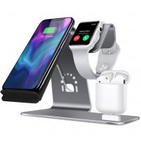 Stojanček pre nabíjanie iPhone/Watch/Airpods – strieborný